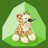 Toy tiger. Stuffed ty tiger with green tent background royalty free illustration
