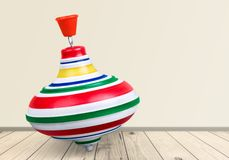 Toy. Top spin children childs twirl object Stock Photography