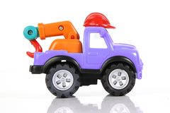 Toy tow truck Stock Photography