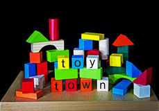 Toy Town - Building Bricks for Children. & Play royalty free stock photography