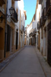Toy Town of Javea. A faked image of Javea in Spain as a toy town Stock Photography