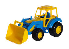 Toy tractor bulldozer Stock Photography