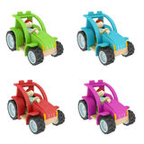 Toy tractor collage Royalty Free Stock Image