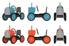 Toy tractor collection Stock Image