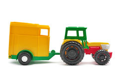 Toy tractor isolated. Royalty Free Stock Photos