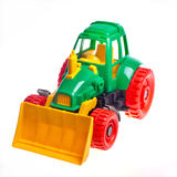 The toy tractor Stock Photography