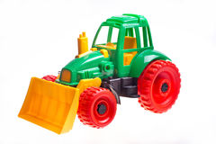 The toy tractor Royalty Free Stock Images