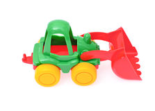 Toy tractor isolated on white background Royalty Free Stock Image