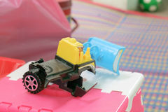 Toy tractor. stock photo