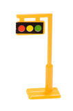 Toy traffic light Stock Photo