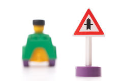 Toy traffic sign Stock Image