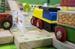 Toy traffic train playground children child play concept Stock Image