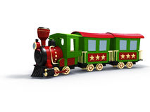 Toy train. 3d rendering/illustration of a stylized toy train Stock Photography