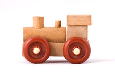 Toy train. Isolated on a white background Royalty Free Stock Photo