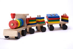 Toy train. Isolated on white toy train Stock Images