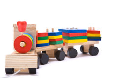 Toy train. Isolated on white toy train Royalty Free Stock Photography