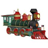 Toy train. 3D render of a toy train royalty free illustration