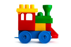 Toy train. Isolated on the white background stock photos