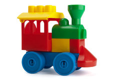 Toy train. Isolated on the white background royalty free stock photos