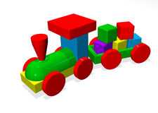 Toy Train. Colorful Children's Toy Train stock illustration