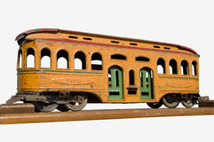 Toy train. Antique 19th century toy train with clipping path Stock Photo
