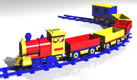 Toy train. A rendered 3D model of a toy train Stock Photo