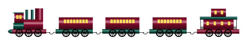 Toy Train. Illustration of shiny toy train on white Royalty Free Stock Photo