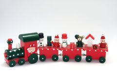 Toy train. Red toy train isolated on white Stock Photo