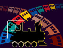 A toy train Royalty Free Stock Photography