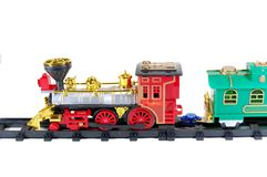 Toy Train and caboose Royalty Free Stock Photography
