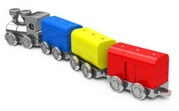 The toy train Stock Images