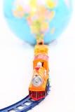 Toy Train e globo Foto de Stock
