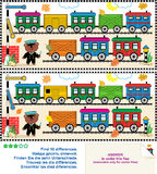 Toy train find the differences picture puzzle Stock Photo