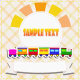 Toy train greeting card Stock Photography