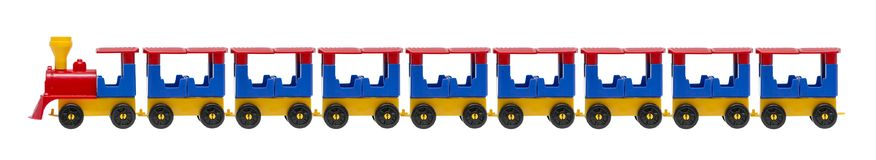 Toy train isolated on the white background. Colorful toy train isolated on white background stock photos