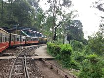 Toy train journey. Kalka to shimla Stock Image