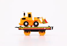 Toy Train & Machines. Toy train carrier on white background Stock Image