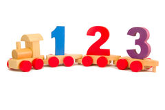 Toy train with numbers Royalty Free Stock Image