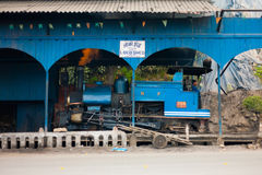 Toy Train Parked Shed Driver Side Darjeeling Stock Photography