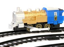 Toy train with rails, Royalty Free Stock Image