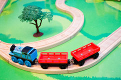 Toy Train Set Royaltyfri Fotografi