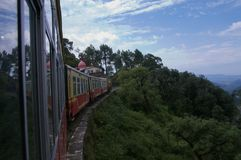 Toy train Shimla. Narrow-gauge toy train from Kalka to Shimla Stock Images