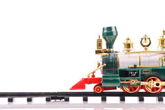 Toy Train with Space For Tex Stock Photography