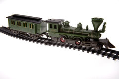 Toy train on track Stock Photo