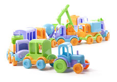 Toy train of trucks Stock Photography