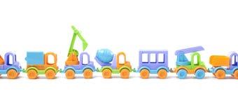 Toy train of trucks Stock Photo