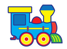 Toy train. Vector artwork of a toy train Stock Images