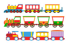 Toy train vector illustration. Stock Photography