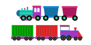 Toy train vector illustration. Stock Photos