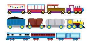 Toy train vector illustration. Royalty Free Stock Photo